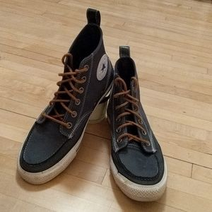 Men's Blue Leather Converse All Stars, 6 1/2